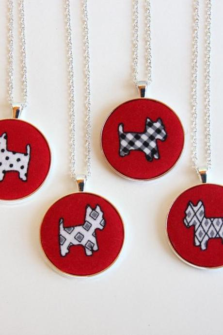 Dog lover gift, dog lover jewelry, westie dog necklace, scottish terrier necklace, pet mom gift, dog mom jewellery, dog pendant necklace