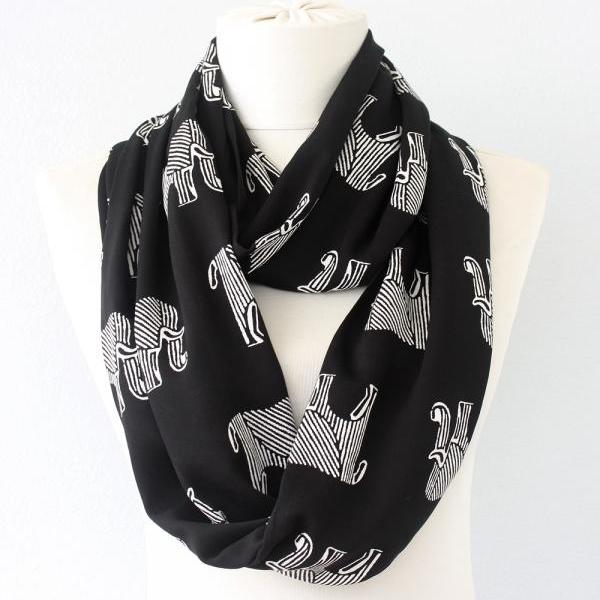 Elephant scarf black tube scarf summer scarves for women